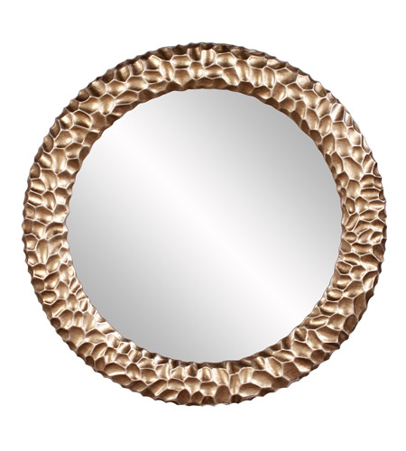 Howard Elliott Collection 68064 Crosby Champagne and Gold Wall Mirror, Round photo