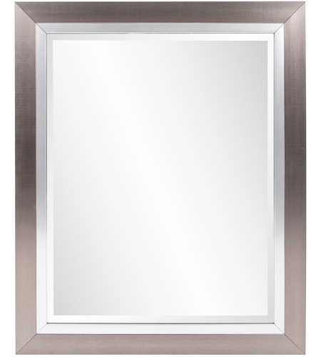 Howard Elliott Collection 69043 Chicago 18 X 18 inch Brushed Silver Wall Mirror, Rectangle photo