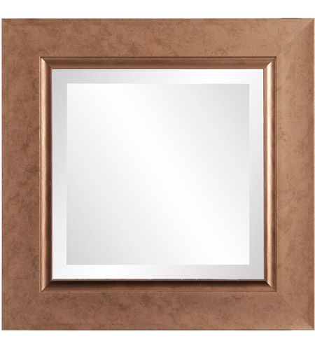 Howard Elliott Collection 69056 Lexington 18 X 18 inch Mottled Copper Wall Mirror photo
