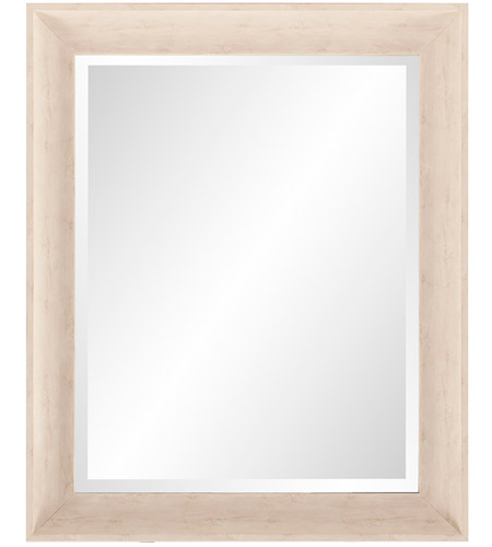 Howard Elliott Collection 69060 Parker 34 X 28 inch Creamy White and Wood Grain Wall Mirror, Rectangle photo