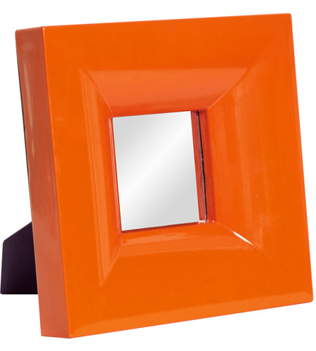 Howard Elliott Collection 78001 Candy 9 X 9 inch Orange Lacquer Table Mirror, Square photo