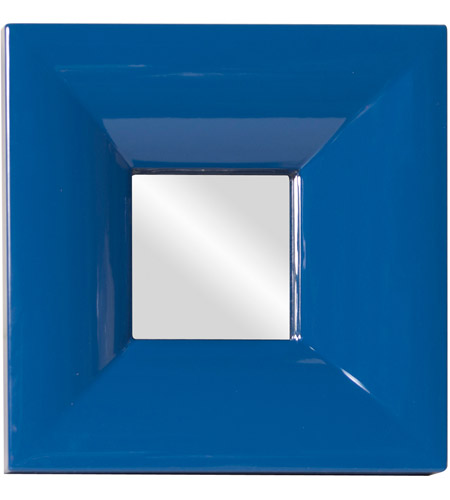 Howard Elliott Collection 78002 Candy 9 X 9 inch Teal Lacquer Wall Mirror, Square photo