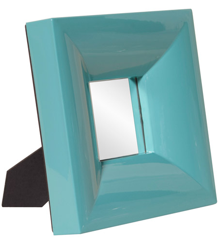 Howard Elliott Collection 78003 Candy 9 X 9 inch Teal Table Mirror, Rectangle, Small photo