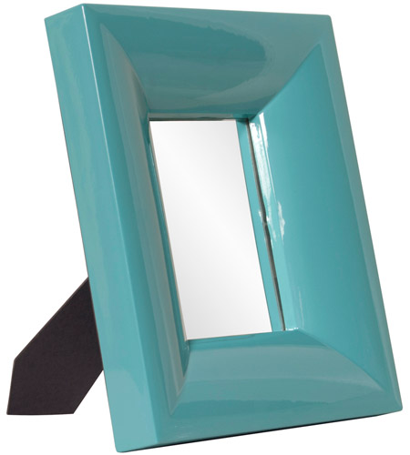 Howard Elliott Collection 78006 Candy 9 X 9 inch Teal Table Mirror, Rectangle, Large photo