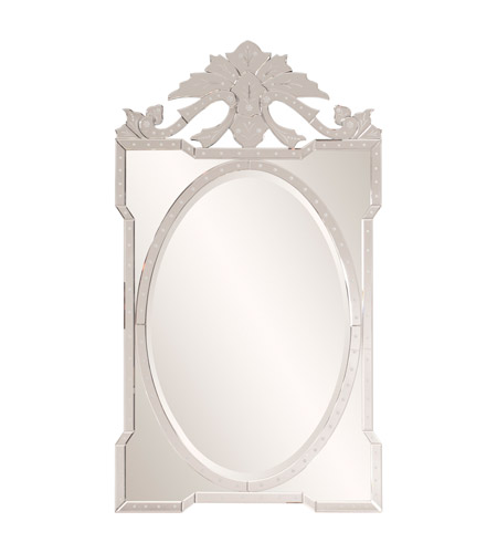 Howard Elliott Collection 79024 Giovanna 59 X 33 inch Wall Mirror, Rectangle, Mirrored photo