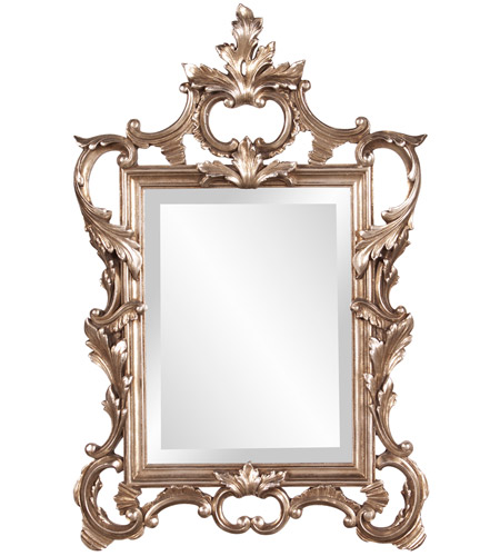 Howard Elliott Collection 84012 Andrews 32 X 20 inch Antique Champagne Silver Leaf Wall Mirror, Rectangle photo