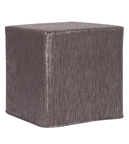 Howard Elliott Collection 850-236 Glam 17 inch Graphite Ottoman photo