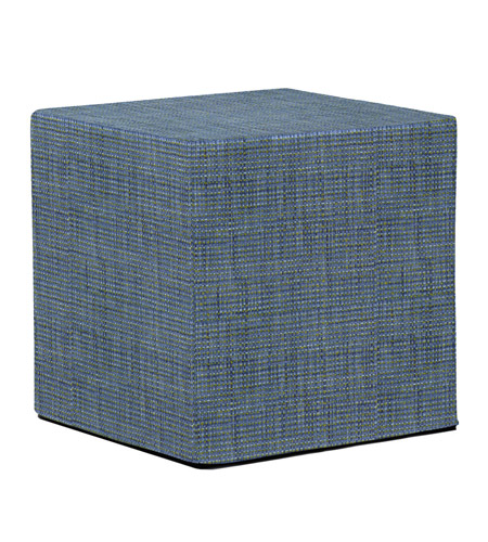 Howard Elliott Collection 850-889 Coco 17 inch Sapphire Blue Ottoman photo