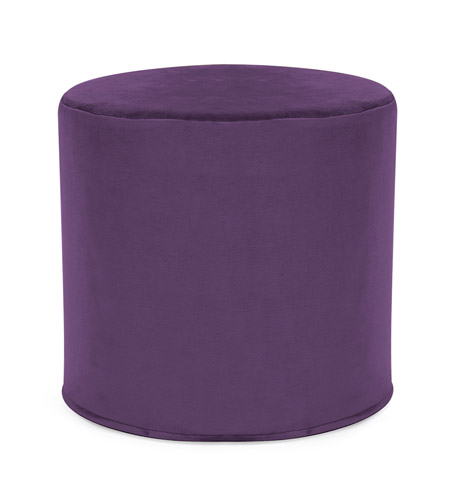 Howard Elliott Collection 851-223 Bella 17 inch Eggplant Purple Ottoman photo