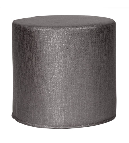 Howard Elliott Collection 851-236 Glam 17 inch Graphite Ottoman photo