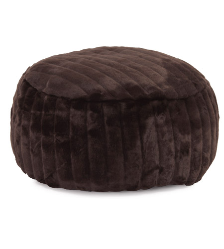 Howard Elliott Collection 871-285 Mink 12 inch Brown Ottoman photo