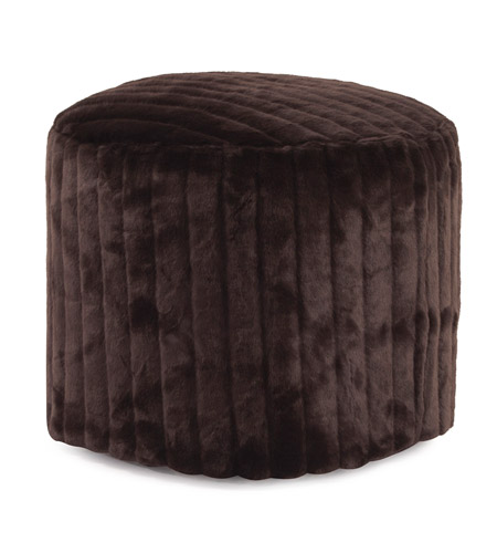 Howard Elliott Collection 872-285 Mink 18 inch Brown Ottoman photo