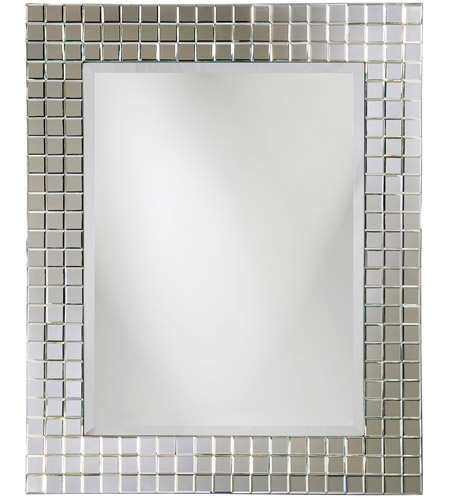 Howard Elliott Collection 9073 Michael 42 X 42 inch Wall Mirror, Rectangle, Checkerboard photo