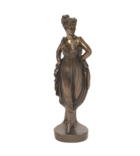 Howard Elliott Collection 91022 Grecian Woman Bronze Statue photo