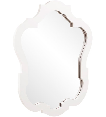Howard Elliott Collection 92002 Asbury 42 X 32 inch White Wall Mirror, Oval photo