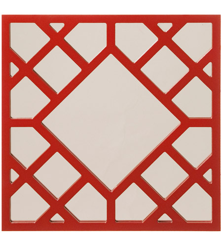 Howard Elliott Collection 92003 Anakin 20 X 20 inch Red Wall Mirror, Square photo