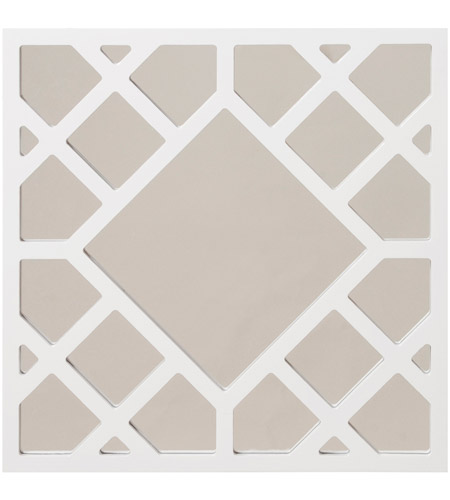 Howard Elliott Collection 92005 Anakin 20 X 20 inch White Wall Mirror, Square photo