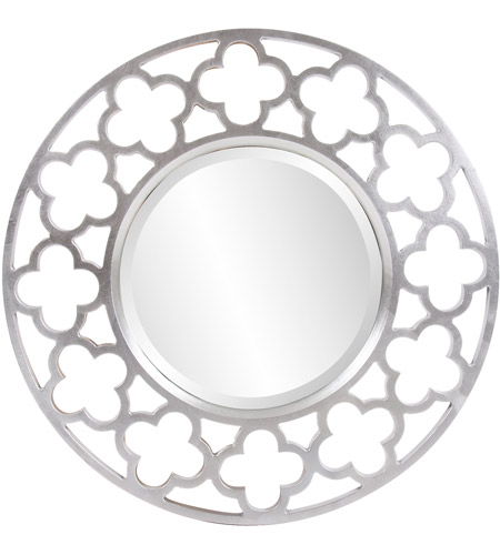 Howard Elliott Collection 92007 Gaelic 20 X 20 inch Brushed Nickel Wall Mirror, Round photo
