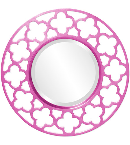 Howard Elliott Collection 92007HP Gaelic 20 X 20 inch Hot Pink Wall Mirror photo