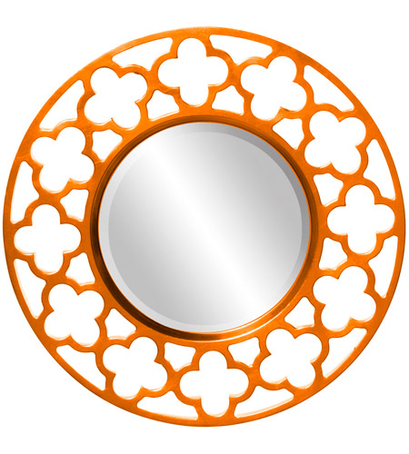 Howard Elliott Collection 92007O Gaelic 20 X 20 inch Orange Wall Mirror photo