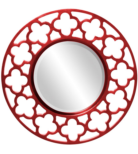 Howard Elliott Collection 92007R Gaelic 20 X 20 inch Red Wall Mirror photo
