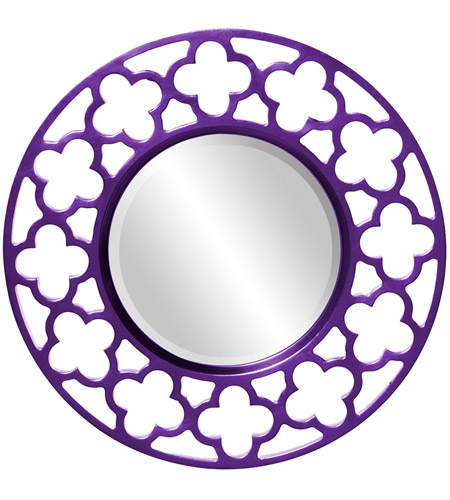 Howard Elliott Collection 92007RP Gaelic 20 X 20 inch Royal Purple Wall Mirror photo