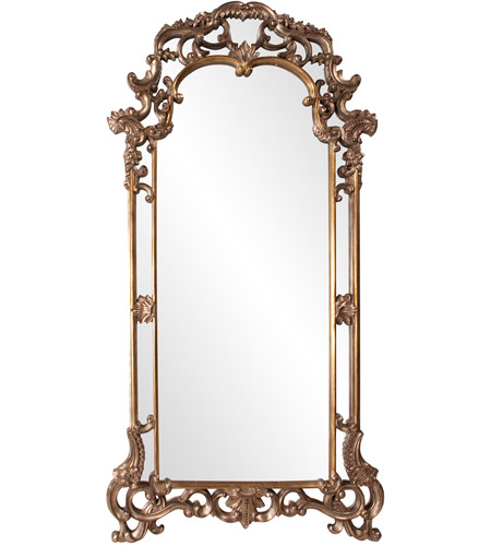 Howard Elliott Collection 92024 Imperial 83 X 44 inch Mottled Bronze Wall Mirror, Rectangle, Antique Silver Accents photo
