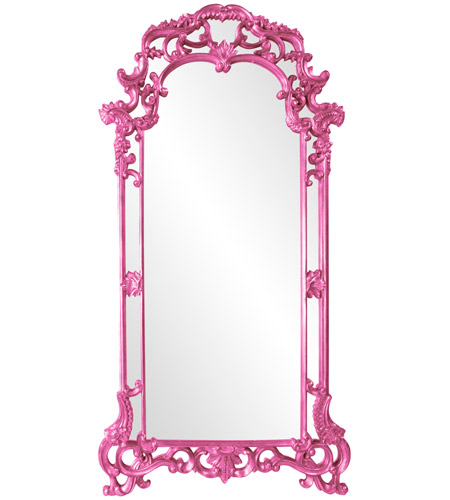 Howard Elliott Collection 92024HP Imperial 85 X 44 inch Hot Pink Wall Mirror, Rectangle photo
