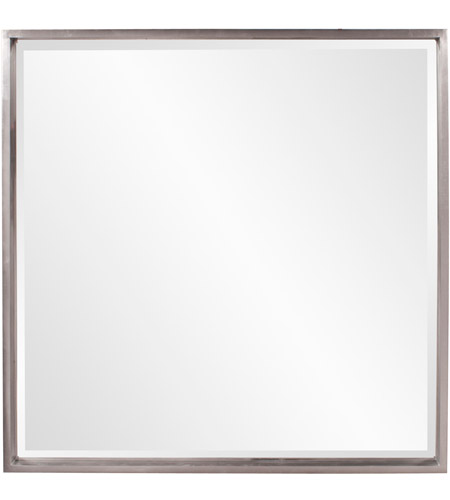 Howard Elliott Collection 92039 Isa 40 X 40 inch Bright Nickel Wall Mirror, Square photo