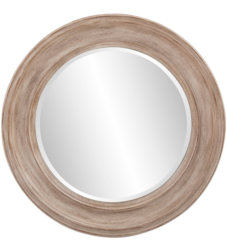 Howard Elliott Collection 92115 Maisey 36 X 36 inch Rustic Brown Wall Mirror, Round photo