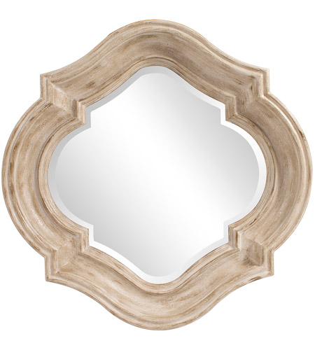Howard Elliott Collection 92117 Aubrey 36 X 36 inch Rustic Brown Wall Mirror, Round photo