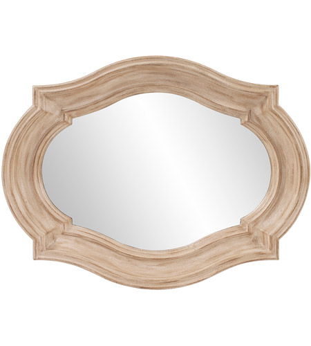 Howard Elliott Collection 92118 Aubrey 36 X 36 inch Rustic Brown Wall Mirror, Large photo