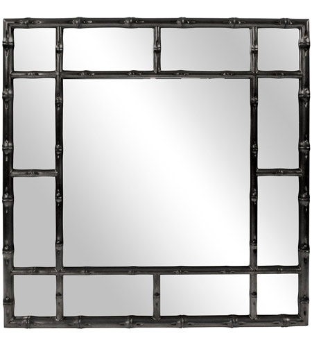 Howard Elliott Collection 92120BL Bamboo 40 X 40 inch Glossy Black Wall Mirror photo