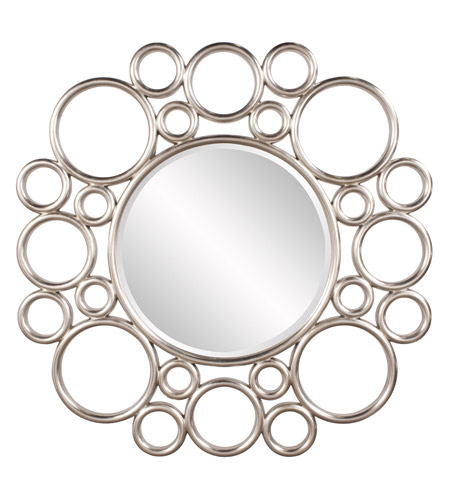 Howard Elliott Collection 92128 Cirque Silver Leaf Wall Mirror, Round photo