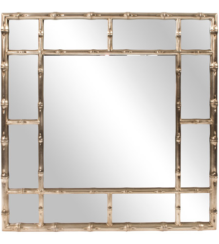 Howard Elliott Collection 92189 Bamboo 40 X 40 inch Country Silver Wall Mirror photo