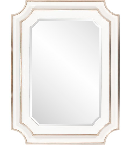 Howard Elliott Collection 92190 Dante 48 X 36 inch Glossy White Wall Mirror photo