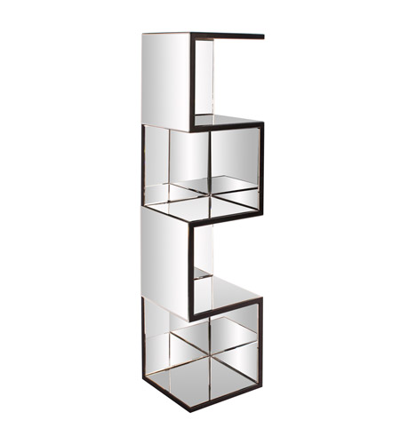 Howard Elliott Collection 99057 Carter 59 X 14 inch Mirrored with Black Trim Shelf photo