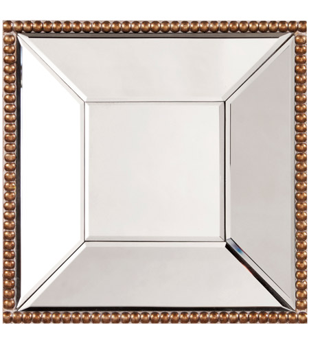 Howard Elliott Collection 99076 Lydia 12 X 12 inch Antique Gold Wall Mirror photo