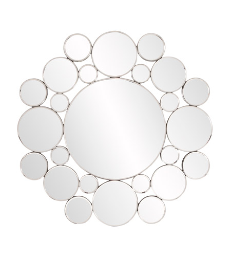 Howard Elliott Collection 99127 Meridian 31 X 31 inch Wall Mirror, Round, Disk Frame photo