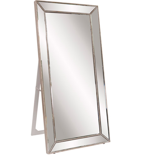 Howard Elliott Collection 99129 Titus 70 X 30 Inch Silver Leaf Floor Mirror Rectangle Photo