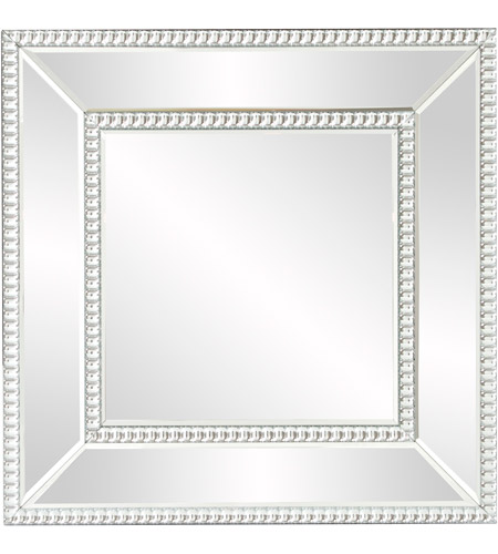 Howard Elliott Collection 99173 Bijou 20 X 20 inch Wall Mirror, Square, Glass Beaded Trim photo