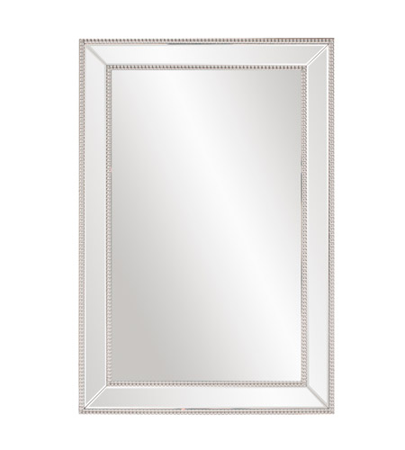 Howard Elliott Collection 99183 Gemma 47 X 31 inch Wall Mirror, Rectangle, Beaded Glass Trim photo