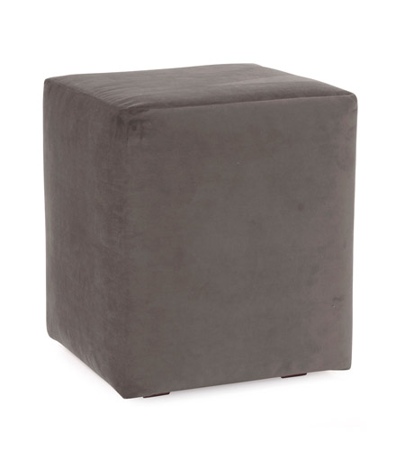 Howard Elliott Collection C128-225 Bella Pewter Gray Cube Cover, Universal Cube photo