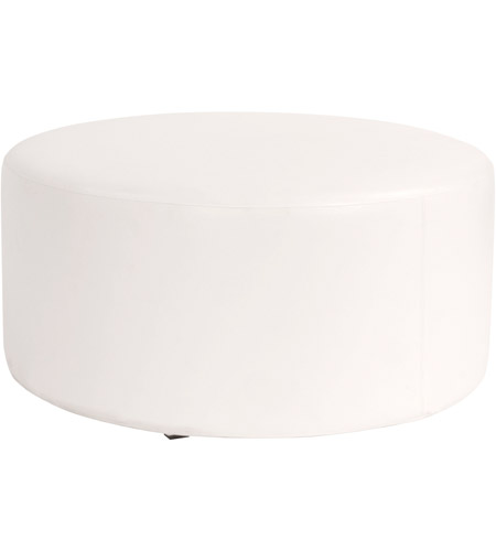 Howard Elliott Collection C132-190 Avanti 18 inch White Ottoman Cover photo