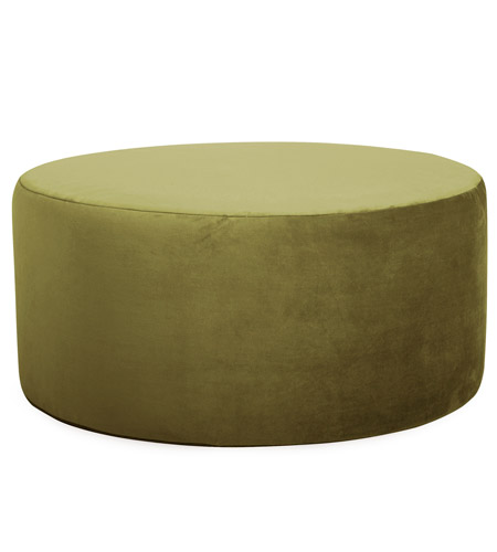 Howard Elliott Collection C132-221 Bella 18 inch Moss Green Ottoman Cover photo