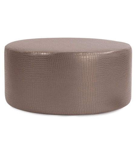 Howard Elliott Collection C132-470 Gator 18 inch Pewter Ottoman Cover, Universal Round photo