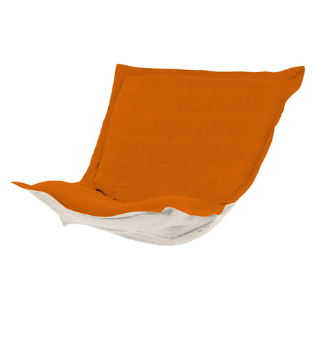 Howard Elliott Collection C300-229 Puff Orange Chair Cover, Linen Texture photo