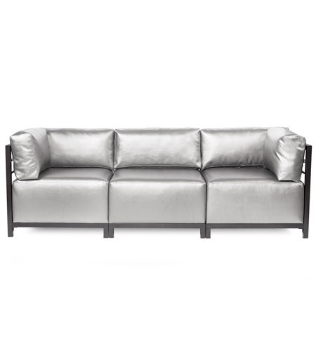 Howard Elliott Collection K923T-770 Axis Silver Sofa Sectional, 3 Piece photo