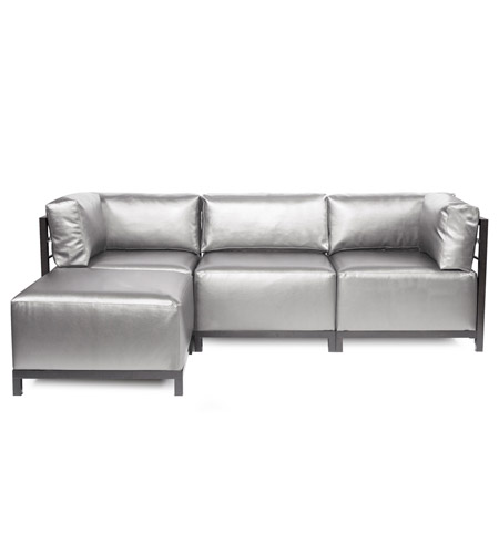 Howard Elliott Collection K924T-770 Axis Silver Sofa Sectional, 4 Piece photo
