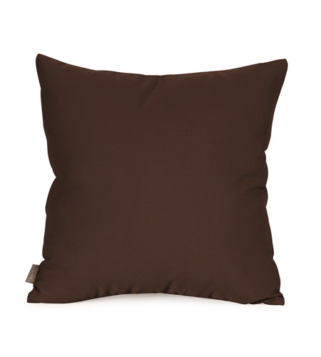 Howard Elliott Collection Q1-462 Seascape 16 X 6 inch Chocolate Brown Outdoor Pillow, Square photo